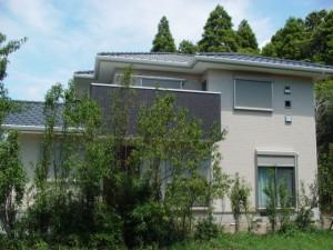 木立の中の家1