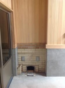 トコロの五右衛門風呂焚口